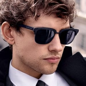 Man wearing Burberry Glasses
