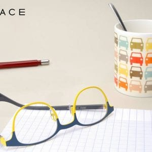 Yellow and blue wayfairs Face a Face Glasses