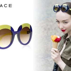 Yellow and blue Face a Face Glasses