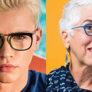 Old and young L.A. Eyeworks Glasses