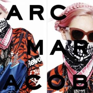 Marc Jacobs Glasses campaign with pink hair