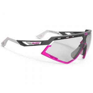 Pink and grey Rudy Project glasses