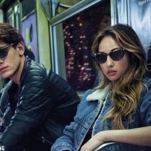 Couple campaign for ray ban glasses