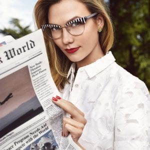 Kate Spade Glasses with model