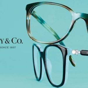 Product shot of Tiffany and co glasses