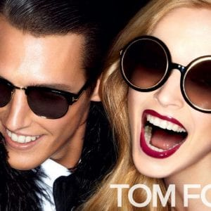 couple wearing tom ford glasses