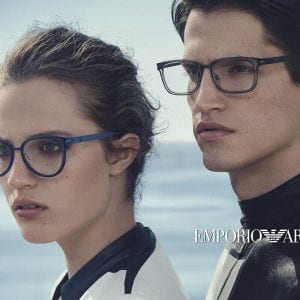 blue and grey Emporio Armani Glasses