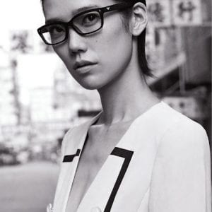 Woman wearing Emporio Armani Glasses