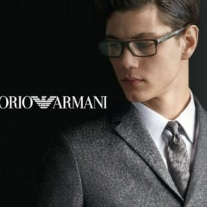 Square Emporio Armani Glasses