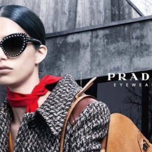 Latest womens' Prada Glasses campaign