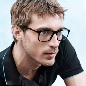 Clement wearing Prada Glasses
