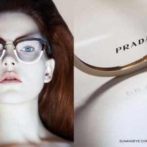 Clear big frame Prada Glasses