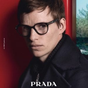 Eddie wearing Prada Glasses