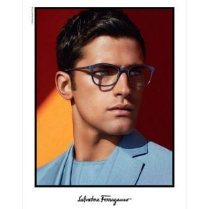 Sean Opry wearing salvatore ferragamo glasses