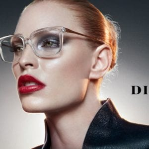 Clear heavy Dita Glasses