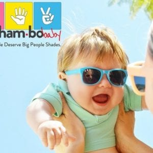 baby wearing Roshambo Glasses