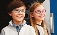 Kids wearing Marchon kids Glasses
