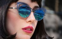 Blue cat eye boz glasses edmonton