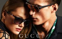 couple wearing gucci glasses edmonton